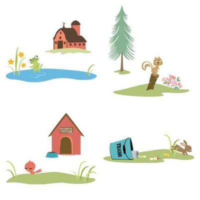 Little Cuties Animal - Scenes - GS