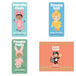 Little Cuties Animal - Bath Labels - PR