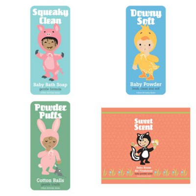 Little Cuties Animal - Bath Labels - PR
