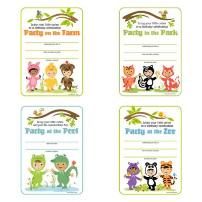 Little Cuties Animal - Party Cards - PR