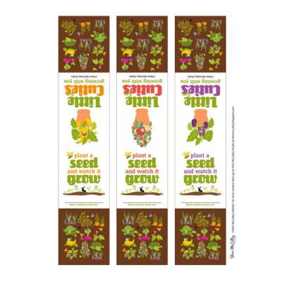 Little Cuties Garden - Seed Pot Labels - PR