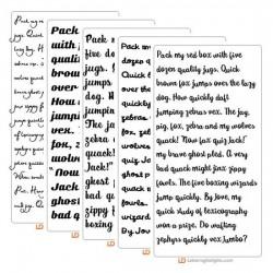 Five Frisky Script Fonts