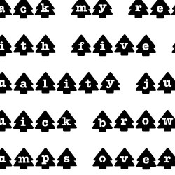 ZP Xmas Tree Stencil - FN