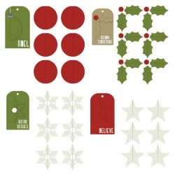 Simply Christmas - 3D Tags - CP