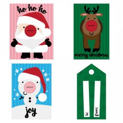 Red - Nosed Lip Balm Cards - PR