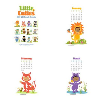 Little Cuties - 2016 Wild Animals Calendar - PR