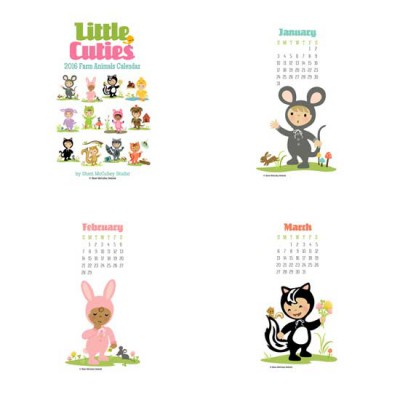 Little Cuties - 2016 Farm Animals Calendar - PR