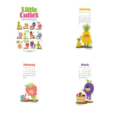 Little Cuties - 2016 Fruit Calendar - PR