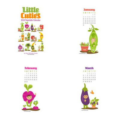 Little Cuties - 2016 Vegetable Calendar - PR