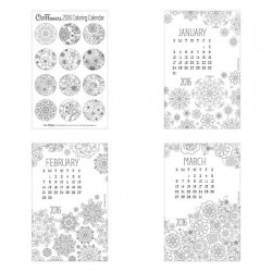 Cut Flowers - 2016 Coloring Calendar - PR