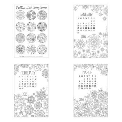 Cut Flowers - 2016 Coloring Calendar - PR