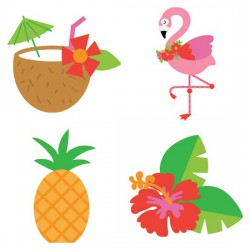 Let's Flamingle - Luau - CS