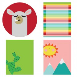 Happy Go - Llama - Planner Stickers - PR