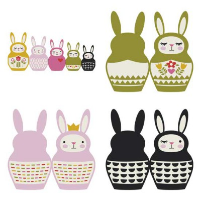 Bunny Babooshka - Cards - PR