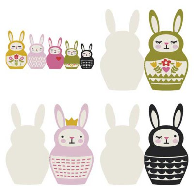 Bunny Babooshka - Cards - CP