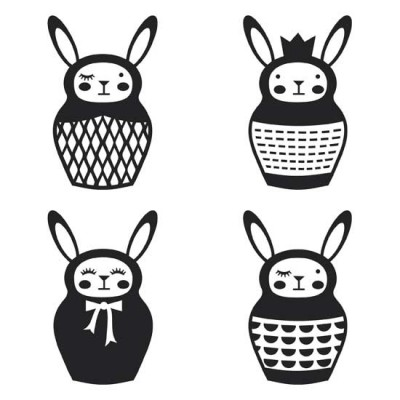 Bunny Babooshka - Black And White - GS