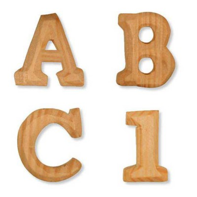 Wooden Letters - AL