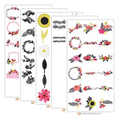 Laurels and Florals - Cut Bundle