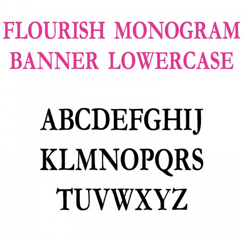 PN Flourish Monogram Banner - FN