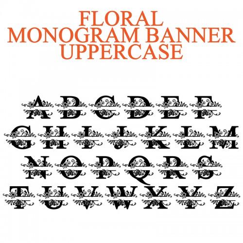 pn floral monogram banner