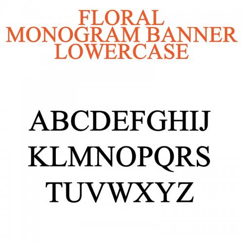 PN Floral Monogram Banner - FN
