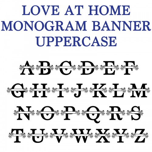 pn love at home monogram banner