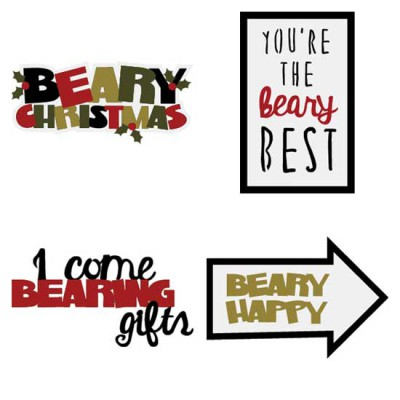 Beary Christmas - Sentiments - CS