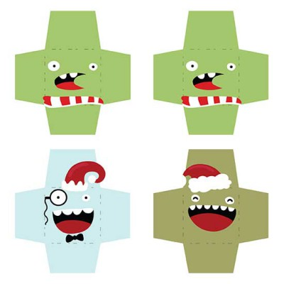 Monstrous Christmas - Cookie Envelopes - CP