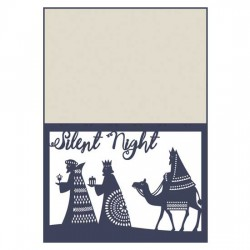 Delicate Yuletide - Nativity Card - CP