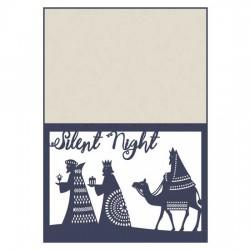 Delicate Yuletide - Nativity Card - CP