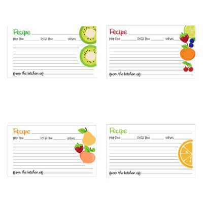 Tutti Frutti - Recipe Cards - PR