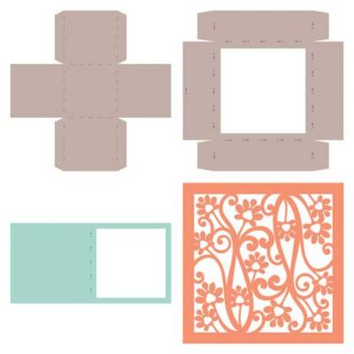 Floret Nouveau - Square Boxes - CP