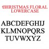PN Christmas Floral Monogram Banner - FN -  - Sample 3
