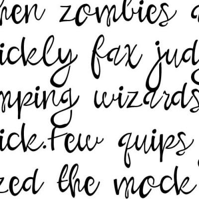 PN Bounce Script Stencil