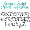 PN Bounce Script Stencil -  - Sample 2