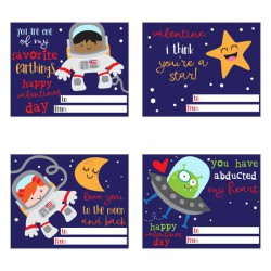 Love You To The Moon - Valentine Cards - PR