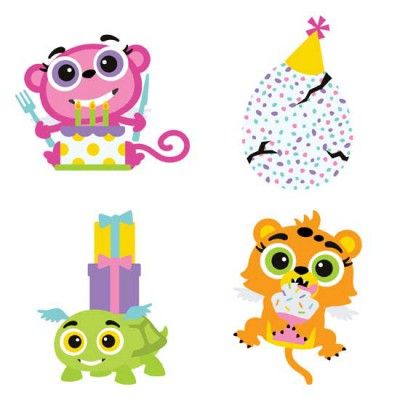 Hatched Animals - Party - GS