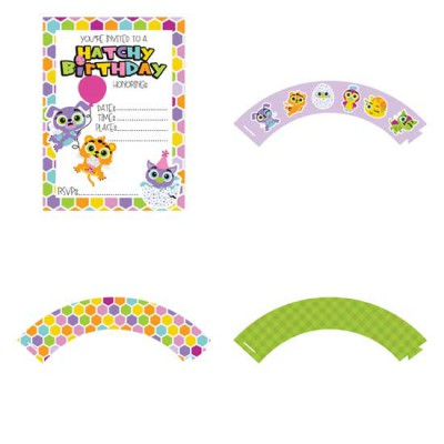 Hatched Animals - Party Printables - PR