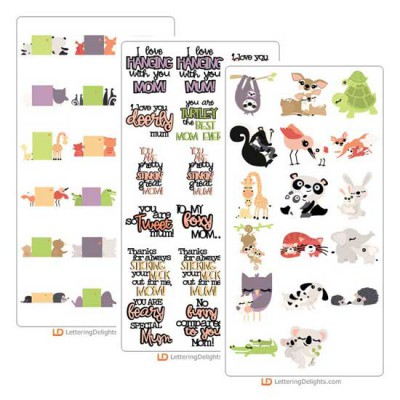 Mommy and Me Menagerie - Cut Bundle