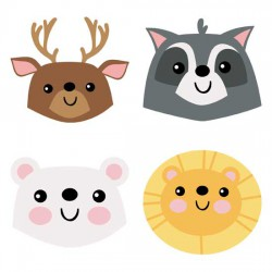 Calendar Animals - Heads - GS
