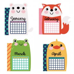 Calendar Animals - Planner Dividers - GS
