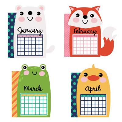 Calendar Animals - Planner Dividers - GS