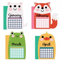 Calendar Animals - Planner Dividers - CP