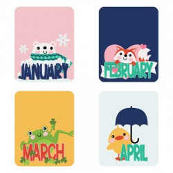 Calendar Animals - Planner Stickers - PR