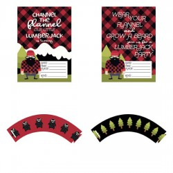 Channel The Flannel - Party Printables - PR