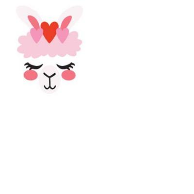 Llama Love - Face - CS