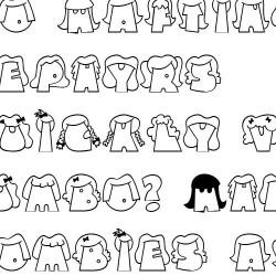 LD Hairdos - Font