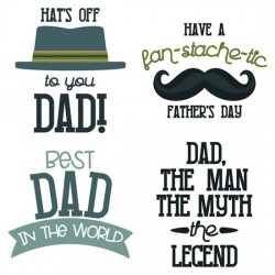 Hats Off To Dad - Sentiments - CS