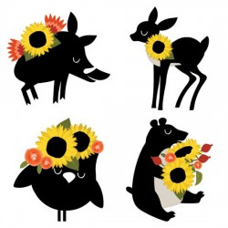 Sunflowers - and Friends - CS