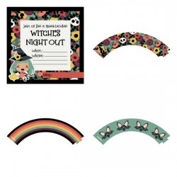 Whimsy Witch - Party Printables - PR